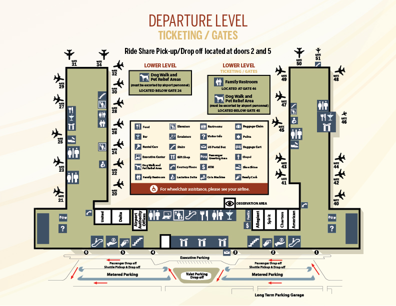 Terminal Maps | Piedmont Triad International Airport
